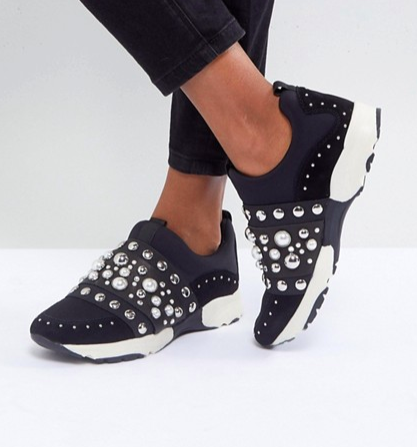 Carvela Luck Studded Sneakers