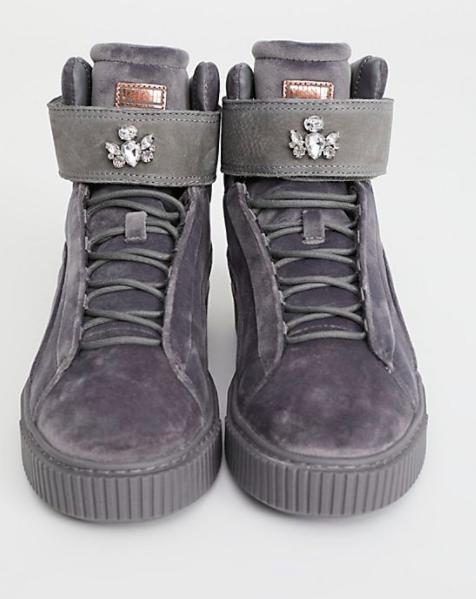 Puma Platform Mid Velour Sneaker