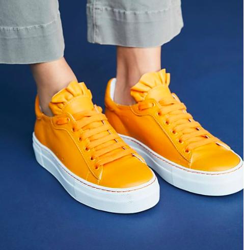 Jil Sander Navy Arancio Sneakers