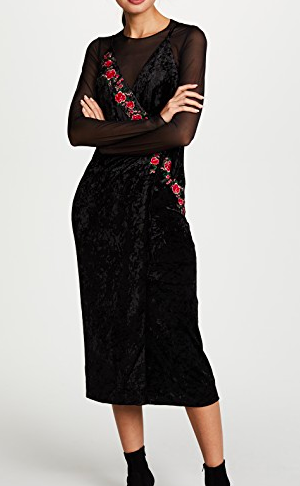 Moon River Floral Velour Dress