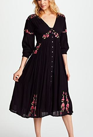 Free People Day Glow Midi Dress