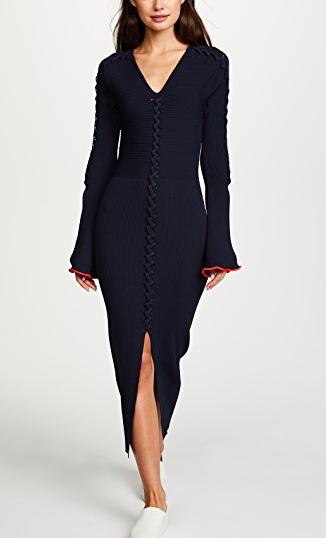 Opening Ceremony Crisscross Long Sleeve Dress