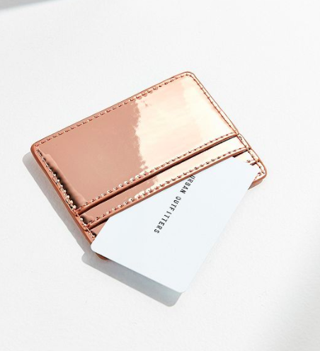 UO Metallic Card Case
