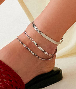 UO Chain Anklet Trio Set