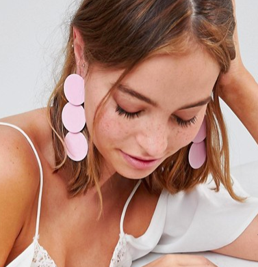 ASOS Triple Disc Drop Earrings