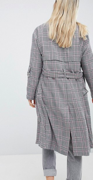 Bershka Check Trench