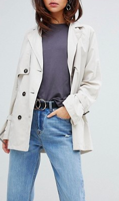 Vero Moda Trench Jacket With Shoulder Detail
