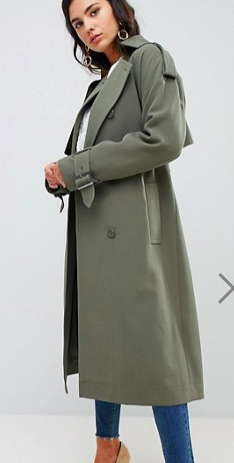ASOS Statement Trench with Buckle Detail