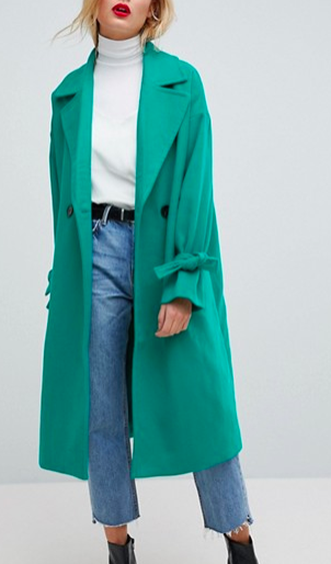 Vero Moda Coat With Sleeve Detail