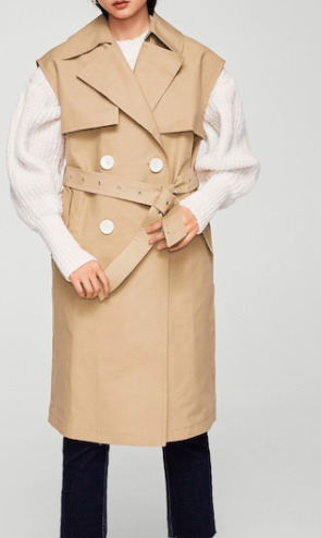 Mango Buttons trench waistcoat