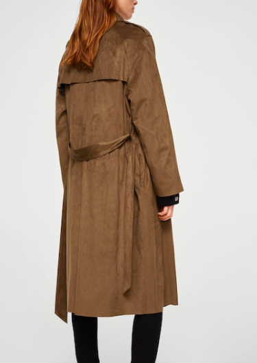 Mango Soft finish trench