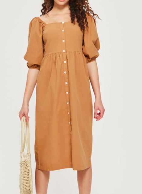 Topshop Seersucker Button Smock Dress
