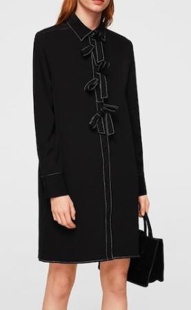 Mango Contrasted bow dress
