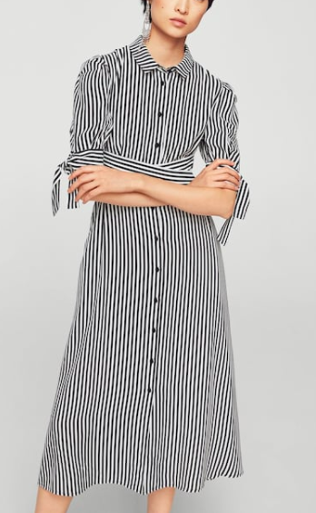 Mango Striped shirt dress