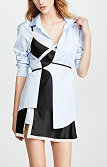 Alexander Wang Hybrid Shirtdress