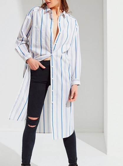 UO Marqui Button-Down Midi Shirt Dress