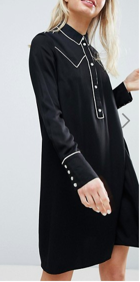 Monki Western Style Shirt Dress