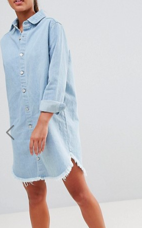 PrettyLittleThing Denim Shirt Dress
