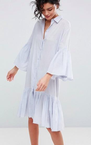 2NDDAY Cotton Shirt Dress