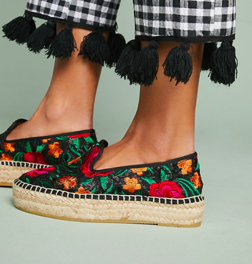 Anthropologie Floral Espadrilles