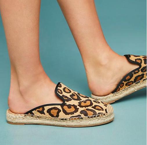 Sam Edelman Kerry Leopard Espadrille Slides