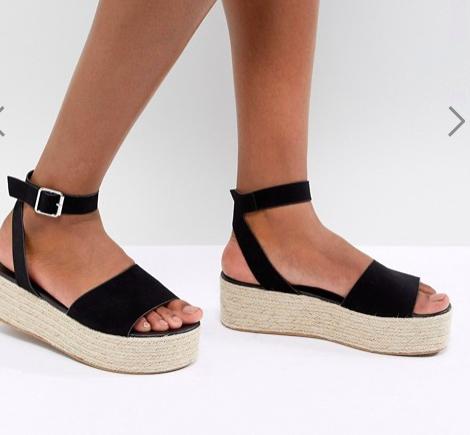 ASOS DESIGN Thea Espadrille Flatform Sandals
