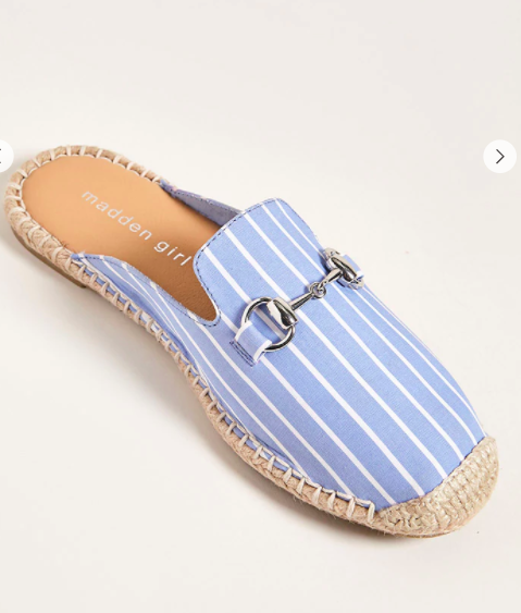 Madden Girl Striped Loafer Mules