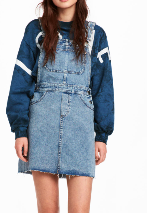 HM Denim Bib Overall Dress