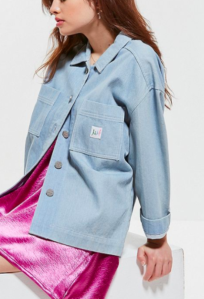 Made In Fleamadonna Button-Down Denim Jacket