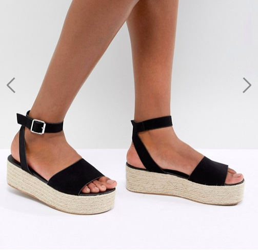 ASOS DESIGN Thear Espadrille Flatform Sandals