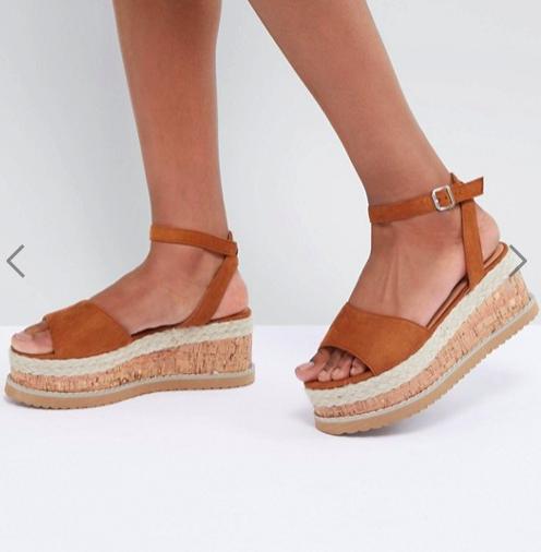 Boohoo Platform Espadrille Sandals