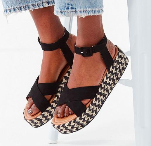 UO Cora Flatform Espadrille Sandal