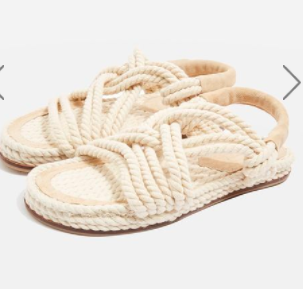 Topshop Fiesta Rope Flat Sandals
