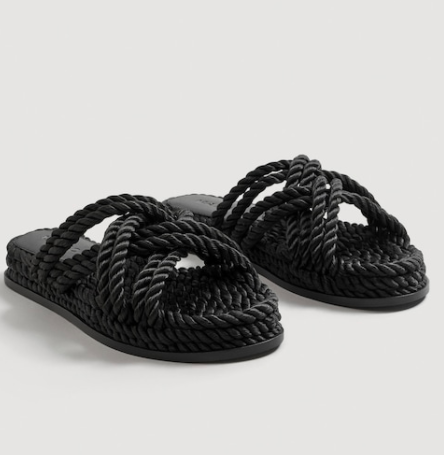 Mango Interwoven cord sandals