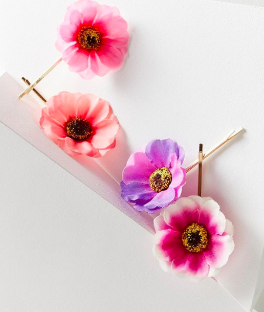 UO Floral Bobby Pin Set