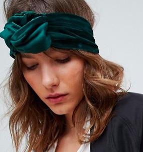 ASOS Chunky Plaited Knot Velvet Headband