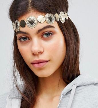 ASOS DESIGN statement coin headband