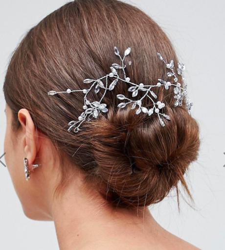 ASOS DESIGN Bridal Crystal Vine Hair Clip