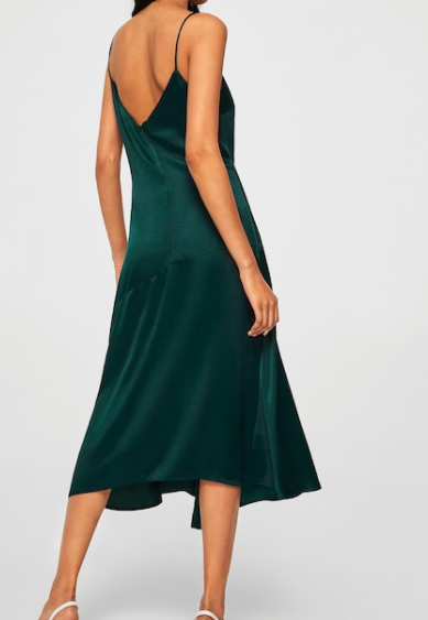 MAngo Asymmetrical satin dress