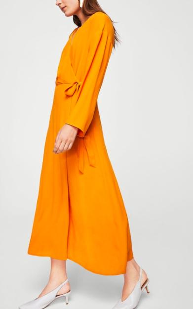 Mango Crossed design dress