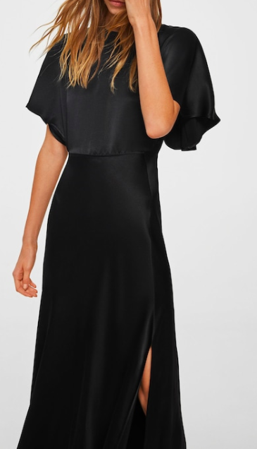 Mango Back detail satin dress