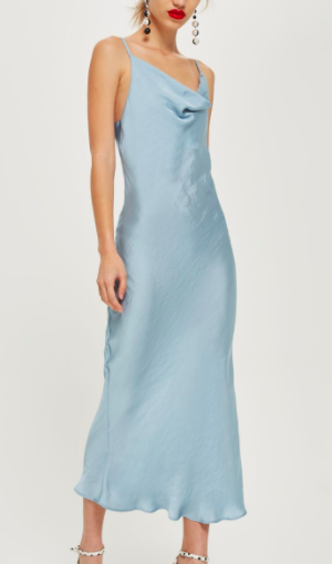Topshop Cowl Slip Dress