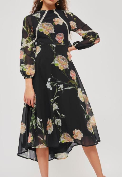 Open Back Floral Skater Dress by Hope & Ivy