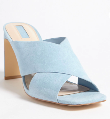 Forever 21 Faux Suede Crisscross Mules