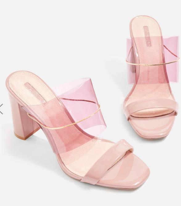 Topshop Raquel Chain Perspex Mule Sandals