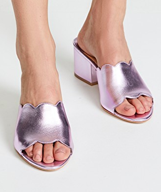 Isa Tapia Chiqui Metallic Sandals