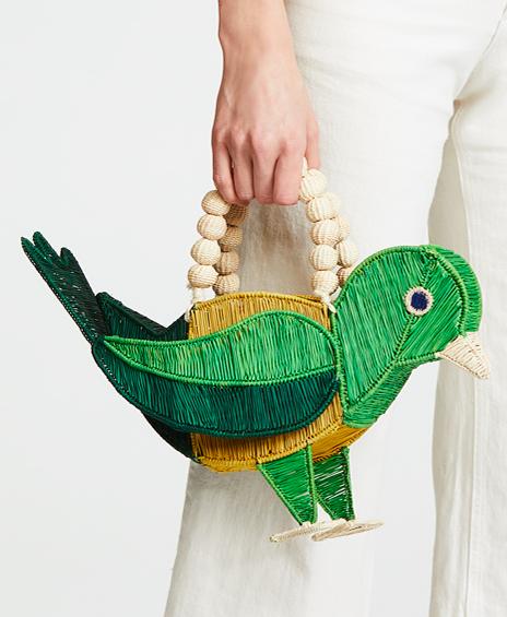 Mercedes Salazar Pajaro Verde Bag