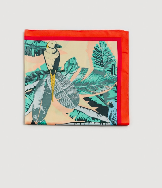 MANGO Tropical printed scarf