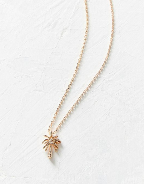 UO Palm Tree Charm Necklace