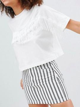 Monki Fringe T-Shirt